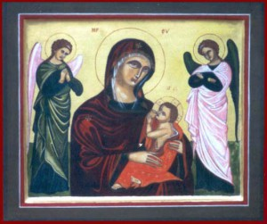Moeder Gods met Kind en Engelen
