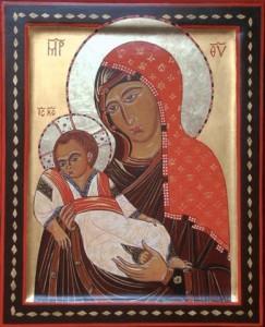 Moeder Gods  met Kind Sinaï 13e eeuw