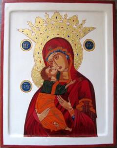 Moeder Gods van Vladimir met kroon