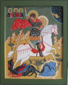 St. Joris met de draak.  16e eeuw.