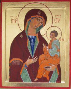 Moeder Gods van Georgië. 16e eeuw Rusland.