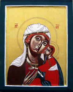 Moeder Gods Glykophilousa. Pisa 13e eeuw